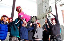 Edinburgh stag party idea: Climbing at EICA Ratho Climbing wall