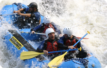White water rafting idea for hen party in Glasgow