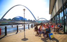 Newcastle Quayside; summer hen nights
