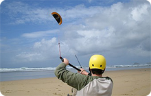 Newquay stag party activity idea: Kite sports