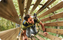 Stag party activity idea: Go ape