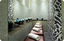 sophisticated london hen party idea: Sanctuary spa
