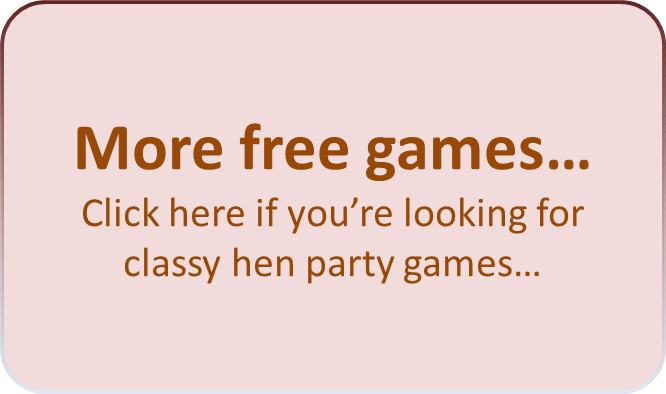Mr And Mrs Hen Party Questions: Free Hen Party Games