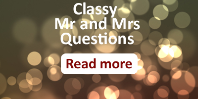 classy mr and mrs questions