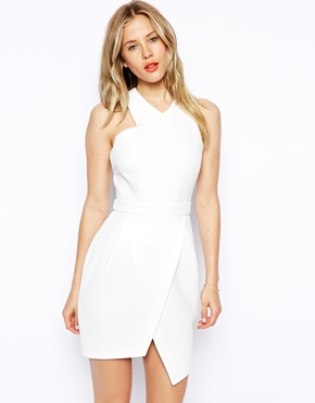 Asos Asymmetric Dress With Step Hem