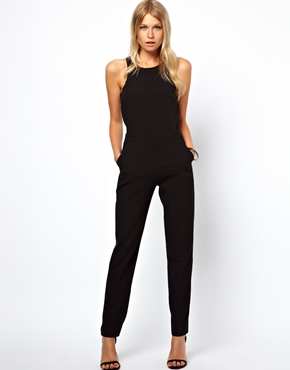asos jumpsuit with racer detail