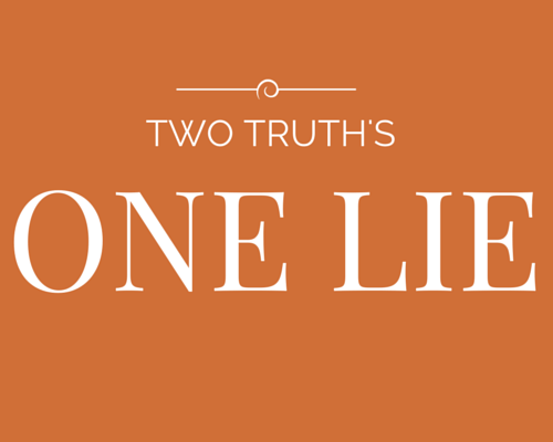 two truth's one lie game