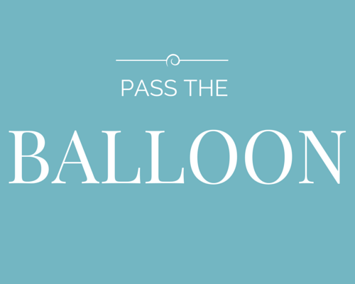 pass the balloon hen party game