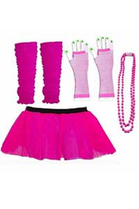 80s style hen party tutu and accessories
