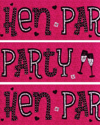 Hen Night Wall Banners Pink Foil Party