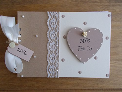 Personalised Hen Night Photo Al Guest Book With Box Gift